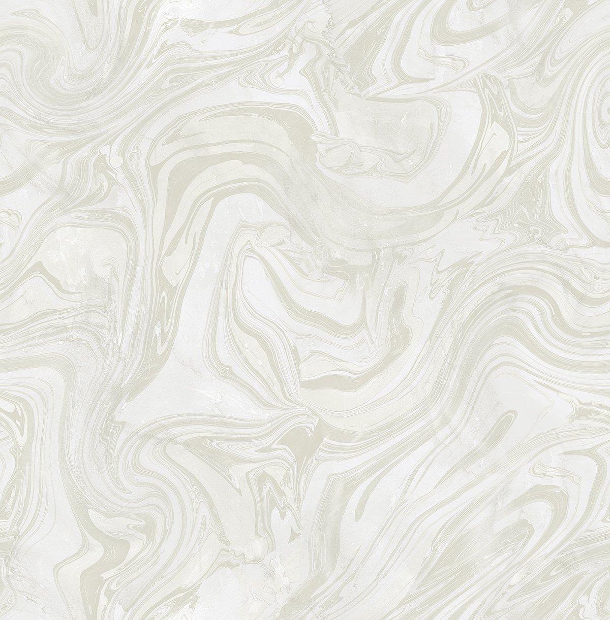 Zebra Wallpaper Petra (Frost) White Silver Marble Malachite Modern Luxury Boho