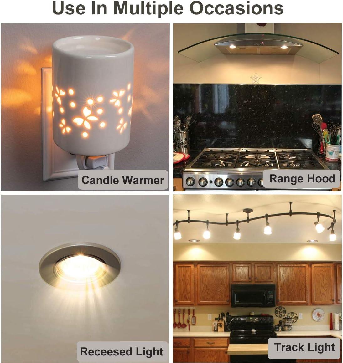 Vinaco Candle Warmer Light Bulbs Tart Burner gu10 Base Warm White Track Lighting gu10+c