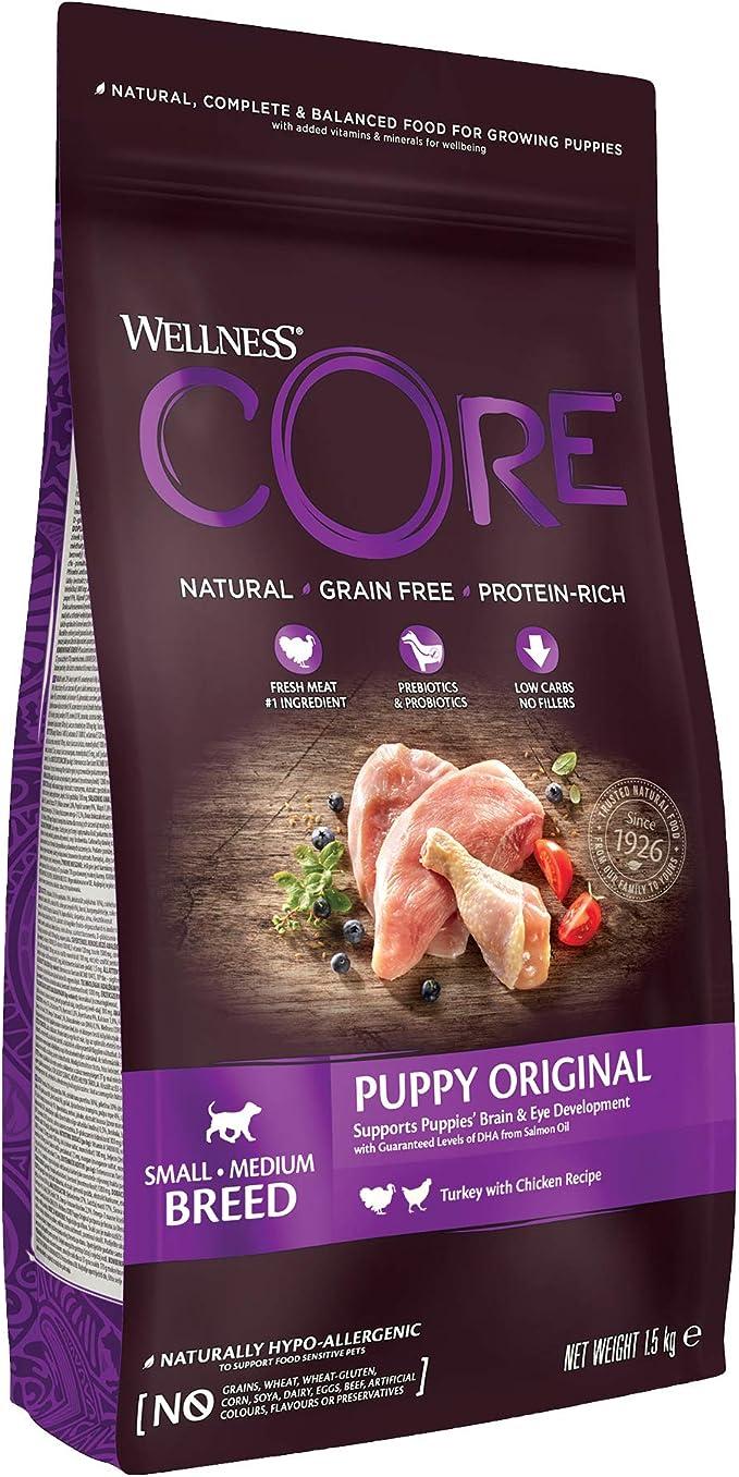 Wellness CORE Puppy Food Dry, Grain Free - Turkey & Chicken, 1.5 kg: Amazon.co.uk: Pet Supplies