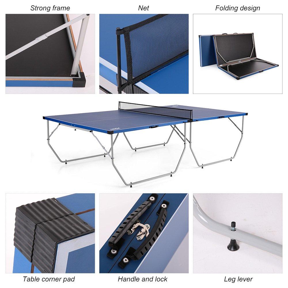 216fdf3b66a43 Lixada Table de ping-pong plateau pliable facile à transporter pour  intérieur ou exterieur 108