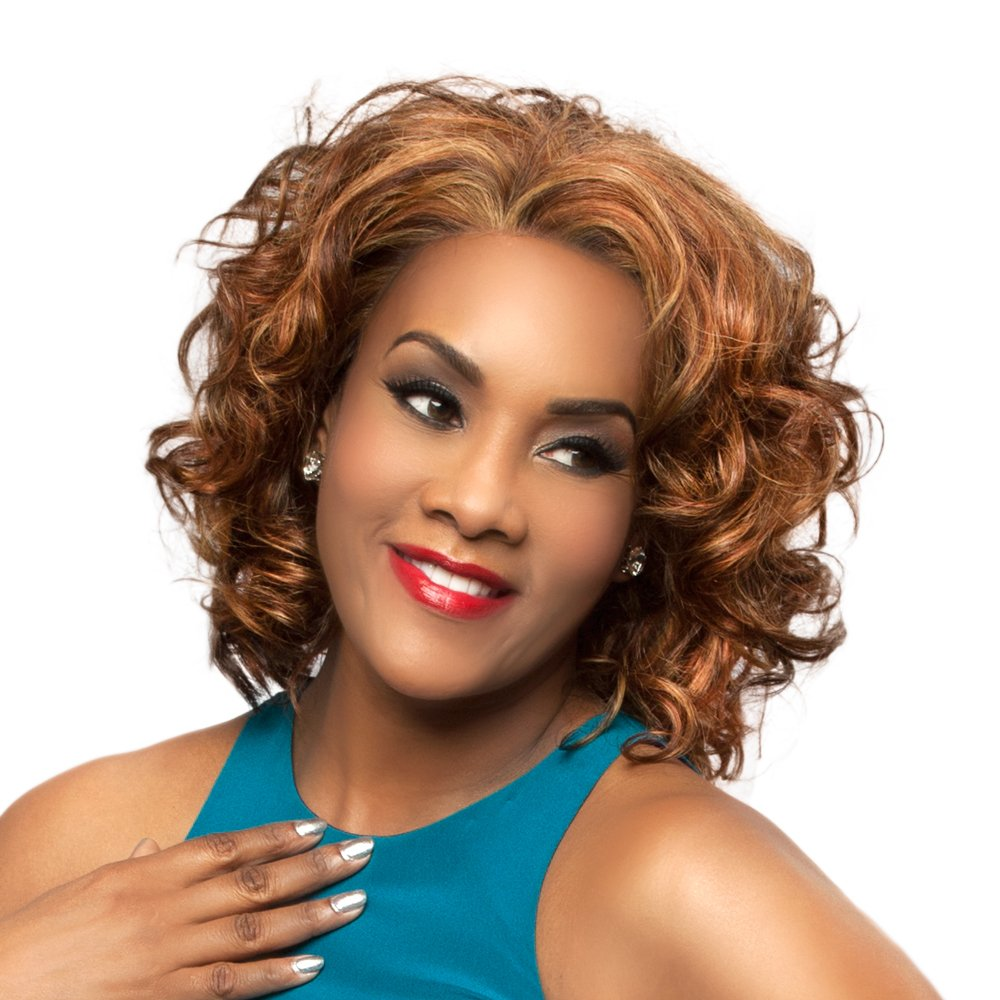Vivica A. Fox CHANTE-V Remi Human Hair, Deep Lace Front Wig in Color 1B