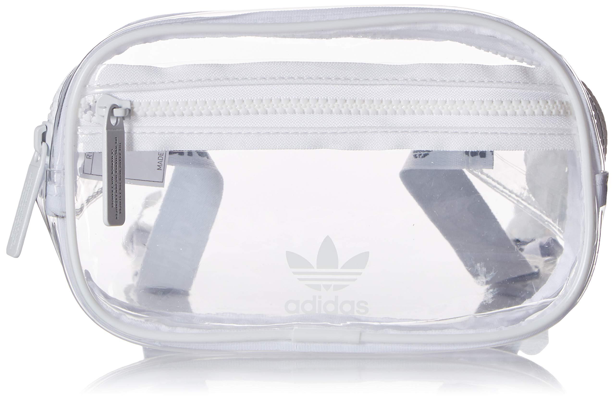 adidas Originals Unisex Clear Waist Pack, White, ONE SIZE by adidas Originals