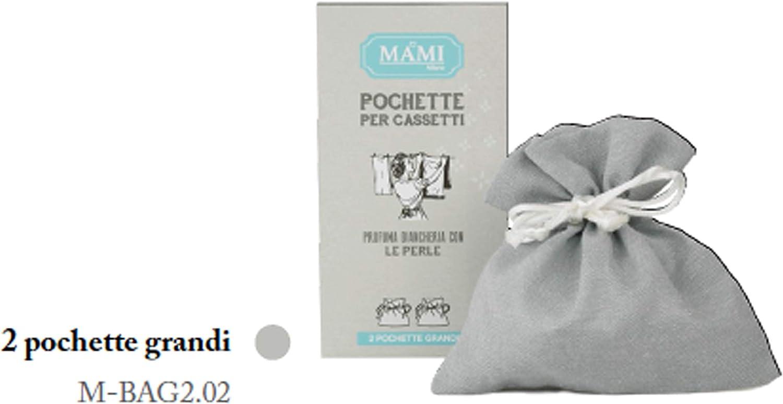 MAMI MILANO 2 Pochette per CASSETTI Grandi Bianche M-BAG2.01 PROFUMA Biancheria con Le Perle