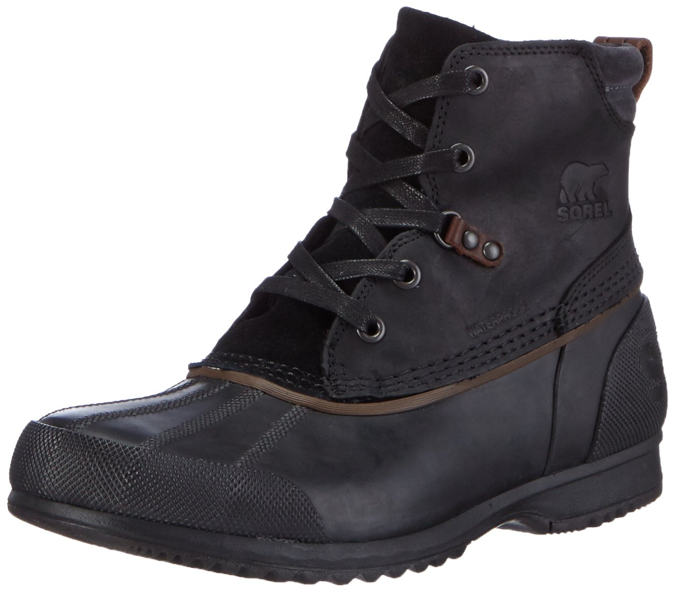 SOREL Men's Ankeny Snow Boot, Black, Grill, 13 D US by SOREL