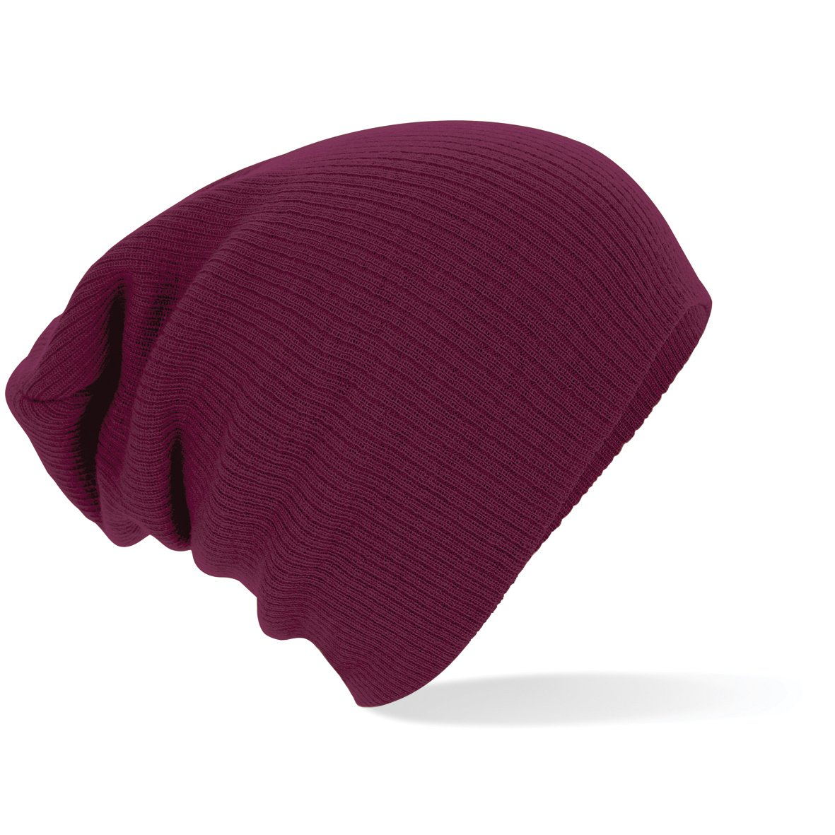 Beechfield Knitted Colours Slouch Beanie Hat