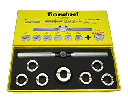 TIMEWHEEL Hand Held 7 Dies Case Back Opener Tool for Rolex Tudor Oyster Waterproof Watch 36.5