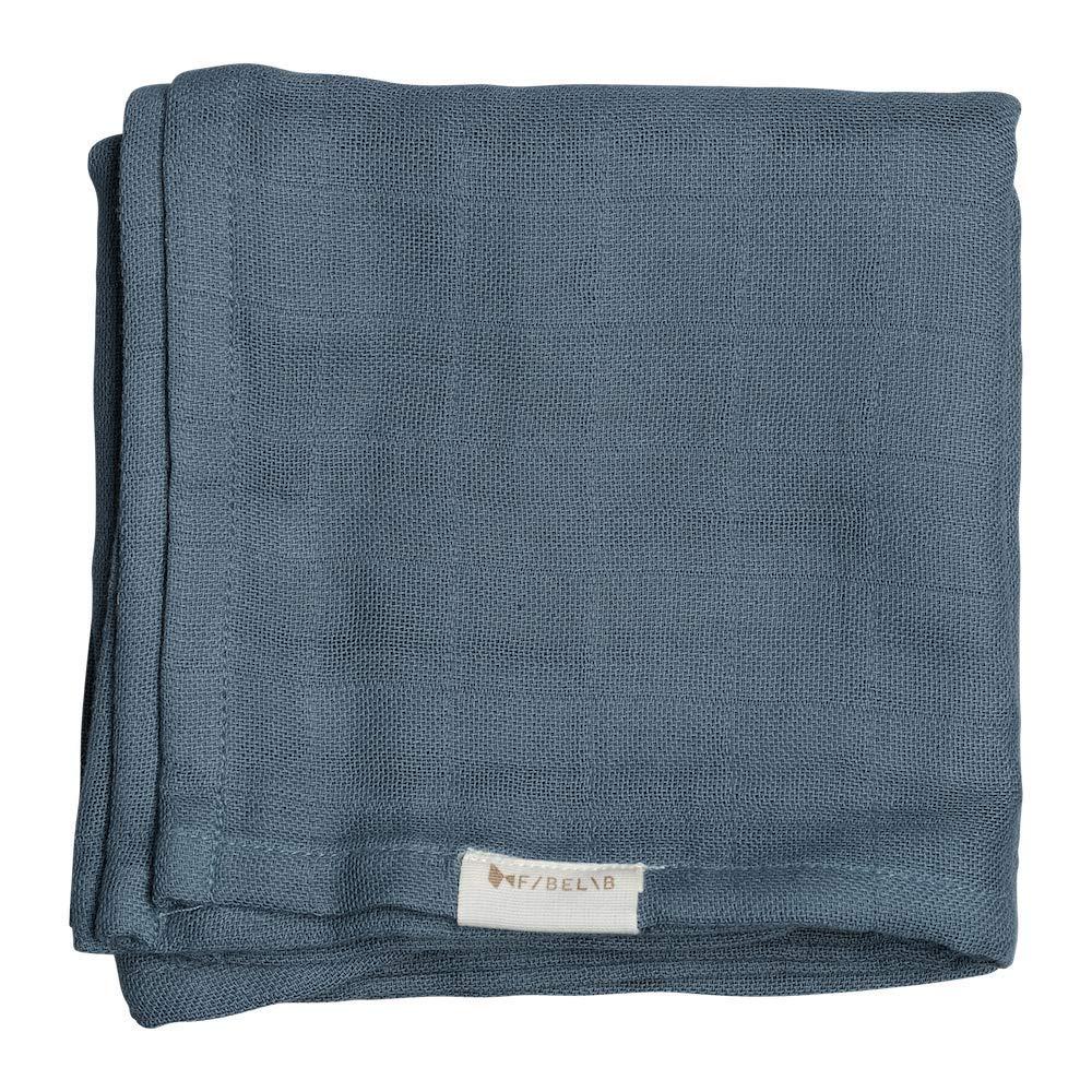 blau Fabelab Mulltuch 60x60 cm aus 100/% Bio-Baumwolle