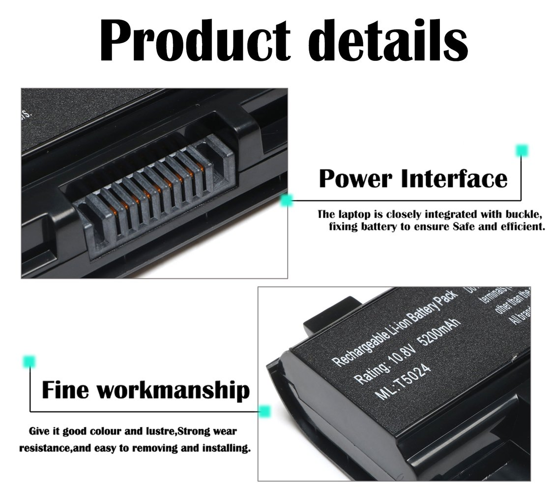 New Replacement Pa5024u 1brs Battery For Toshiba Original Baterai C800 C800d C840 C840d C845 C870 L800 L805 L830 L835 L840 L845 L850 M840 M805 M800 P800 S800 P870 Pa5024 Satellite C55 A C55t C55dt C55d C855 C855d L855 L875 P855 P875 S855 S875 Series