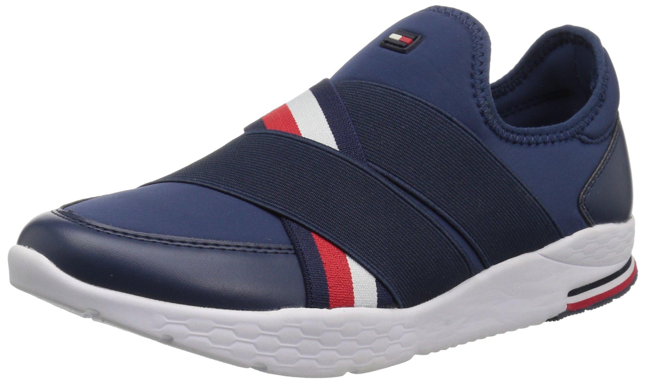 Tommy Hilfiger Women's Mavins Sneaker, Blue, 8.5 M US