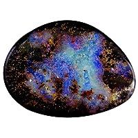 12.67 ct Fancy Shape (20 x 15 mm) Play of Colors Australian Koroit Boulder Opal Natural Loose Gemstone