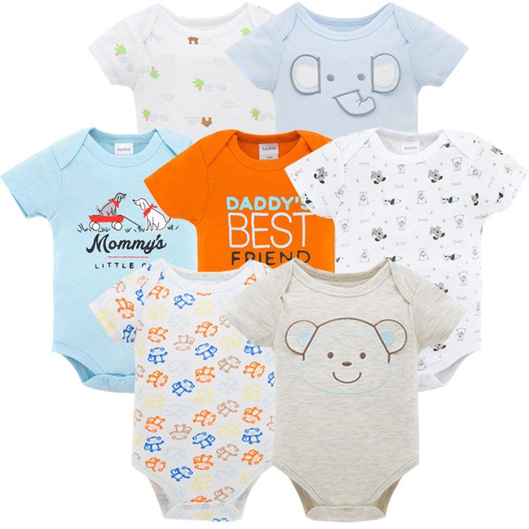 Amazon.com: 2018 7PCS/lot Baby Girl Roupas de Bebe recien nacido ...