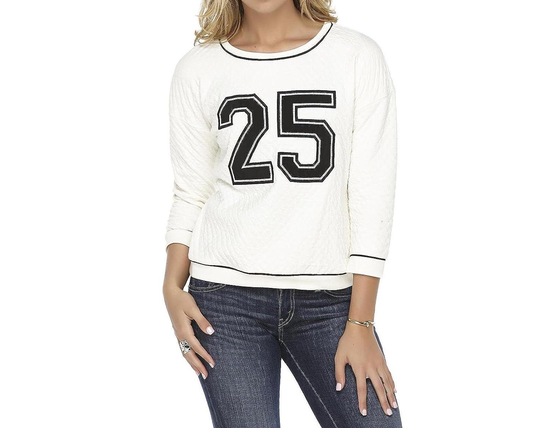 Metaphor Womens Quilted Varsity Sweatshirt