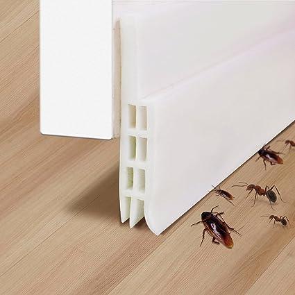 Bon Under Door Draft Stopper, TECKING Weather Stripping Self Adhesive Silicone  Door Bottom Seal Door