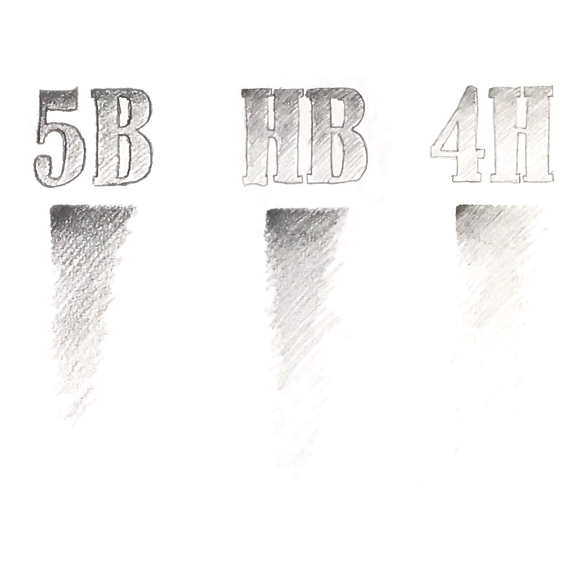 Drawing Mechanical Pencils 9-Piece | Kneaded Eraser | 2 mm Pencil Lead Refills for Artists | Travel Art Set Case | Professional Sketching & Drawing Kit | Metal Pen Barrel by MstrSktch (Image #7)