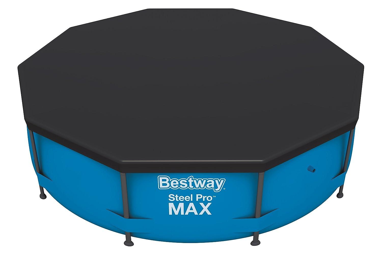 Bestway Flowclear PVC-Abdeckplane D:333 cm, grau, für Hydrium Pool 300x120 cm und Hydrium Splasher Pool 330x84 cm 58291