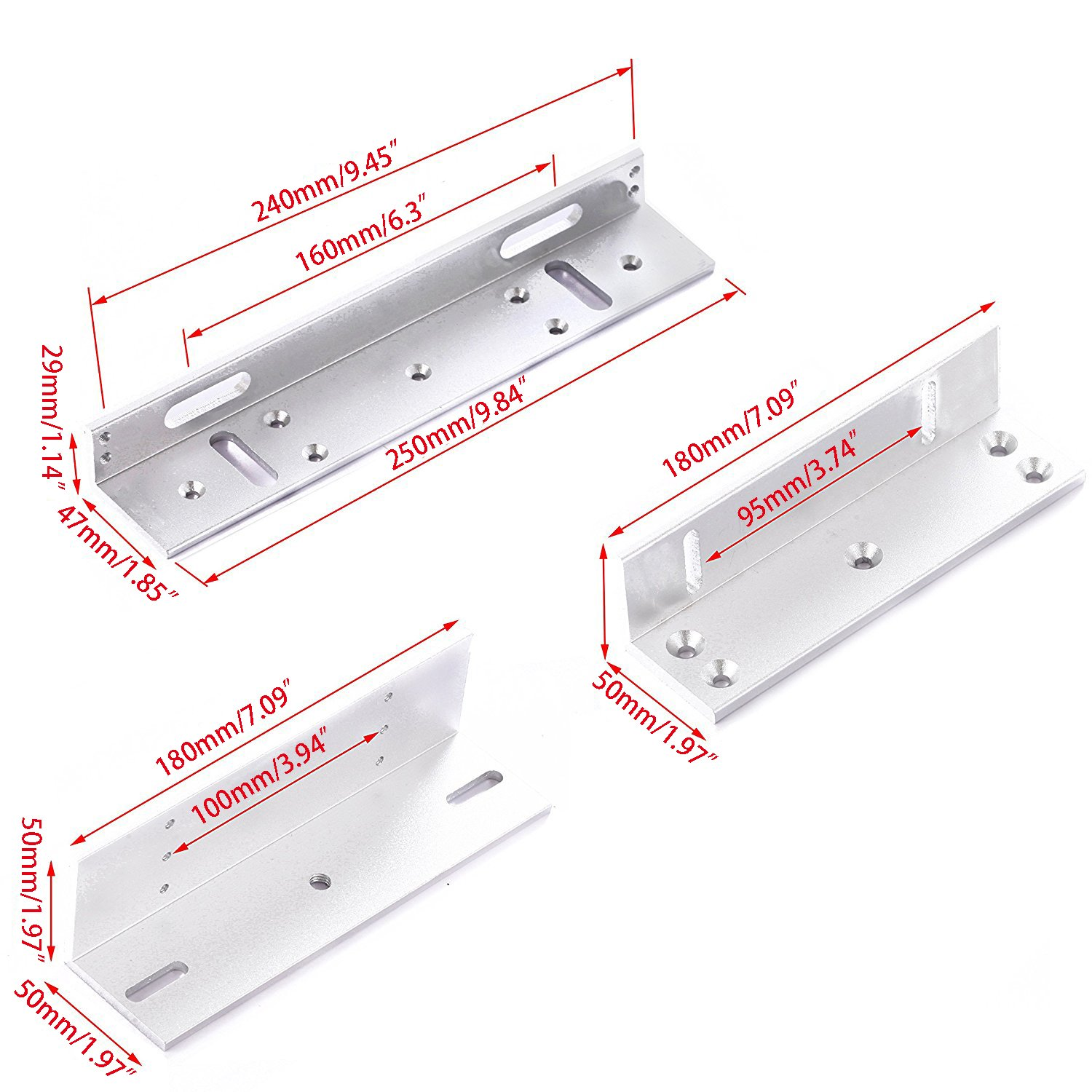 UHPPOTE ZL Holder Stand Bracket Clamp Support For 280KG 600lbs Force Holding Electric Magnetic Lock Inward Door by UHPPOTE (Image #3)