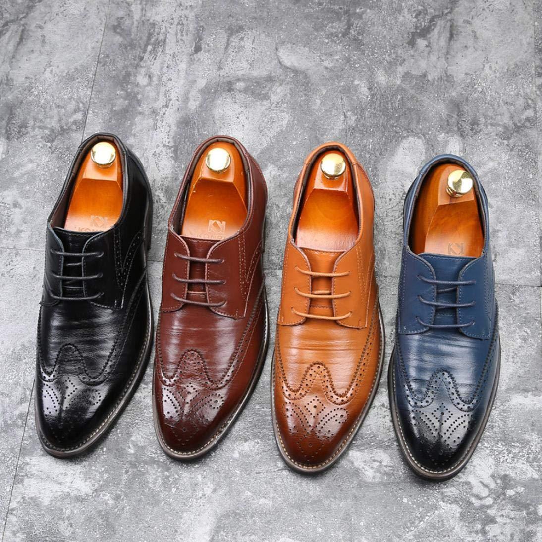 cf369e7f88c45 Soldes Homme Chaussures Richelieu Fauve Large en Cuir