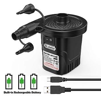 Dr.meter Inflador Electrico, Bomba de inflado eléctrica para Colchones de Aire y flotadores