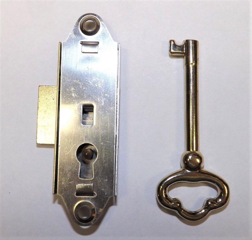 GRANDFATHER CLOCK DOOR LOCK & KEY SET NARROW NEW RIDGEWAY HOWARD MILLER SLIGH