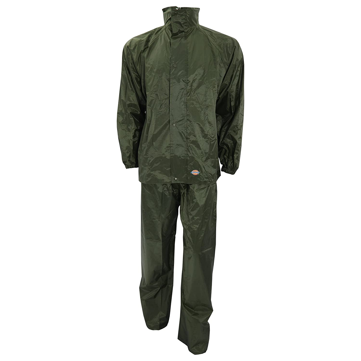 Dark Green Dickies WP10050 DG L Size Large Vermont Water Resistant Suit
