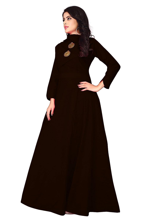 f67da3ba95989f Dhruvi Trendz Women s Stitched A-Line Cotton Kurti  Amazon.in  Clothing    Accessories