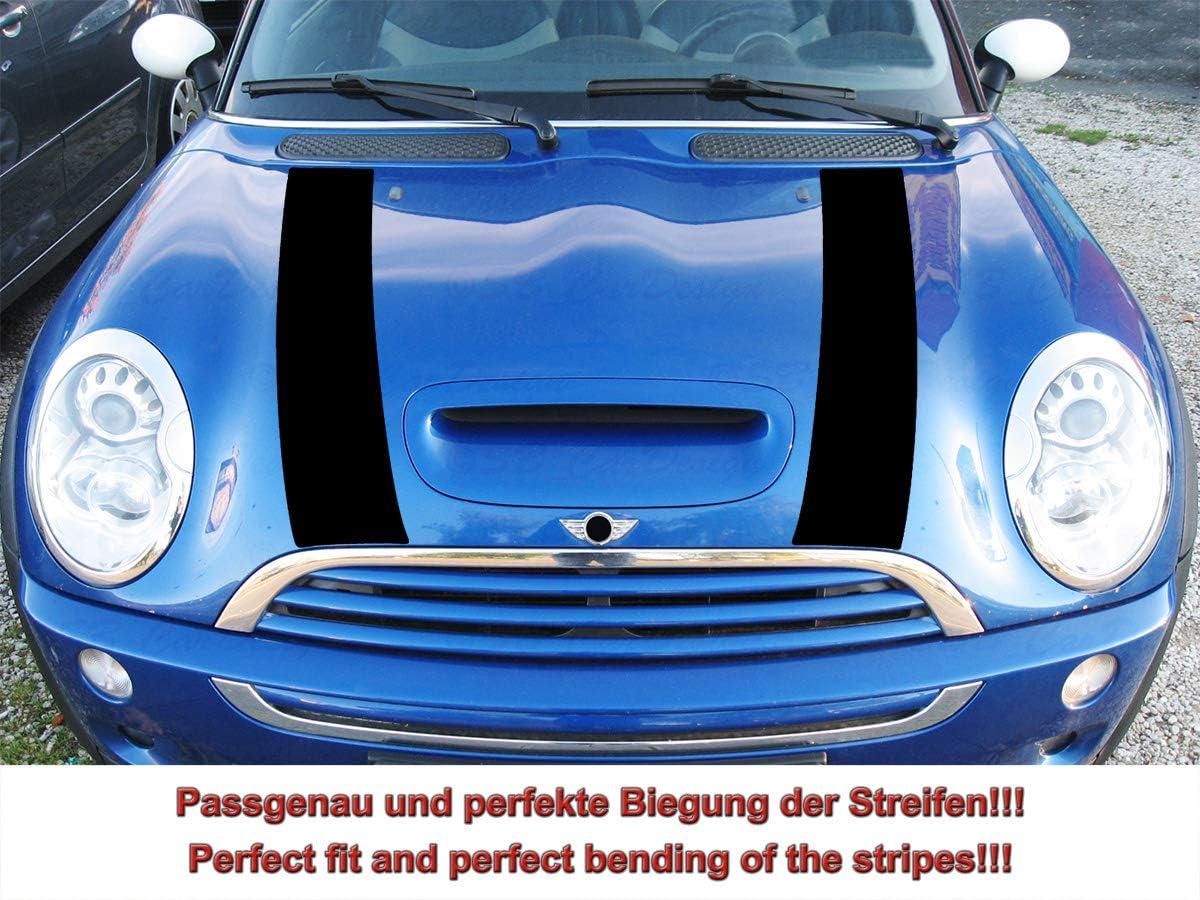Streifen Stripes Aufkleber Motorhaube Für R52 R53 S Modell Mini Cooper Schwarz Design 1 Auto