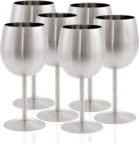 1 Paar Edelstahl Weingläser Metall Rotweingläser Weißweingläser Weinkelch