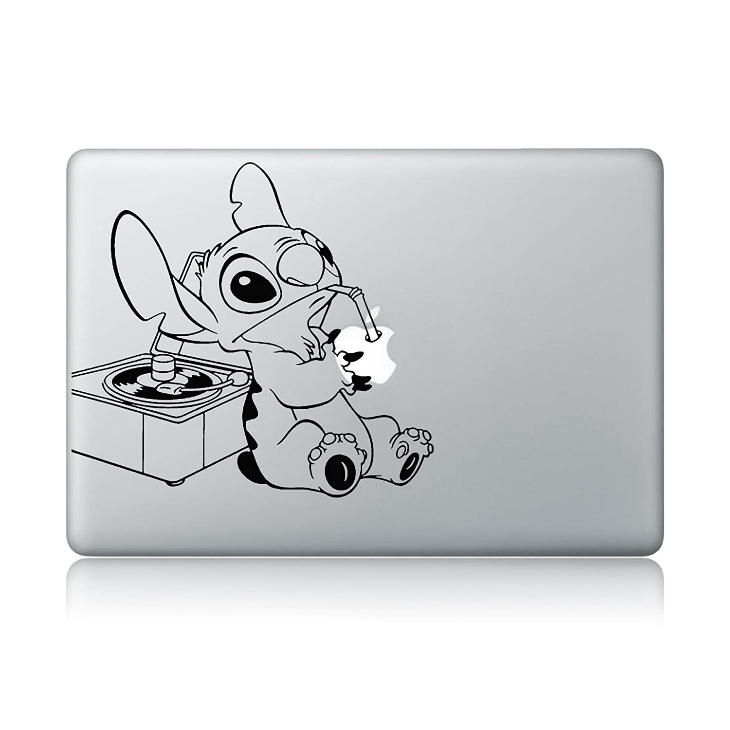 Amazon com stitch drinking apple juice apple macbook laptop vinyl sticker decal computers accessories