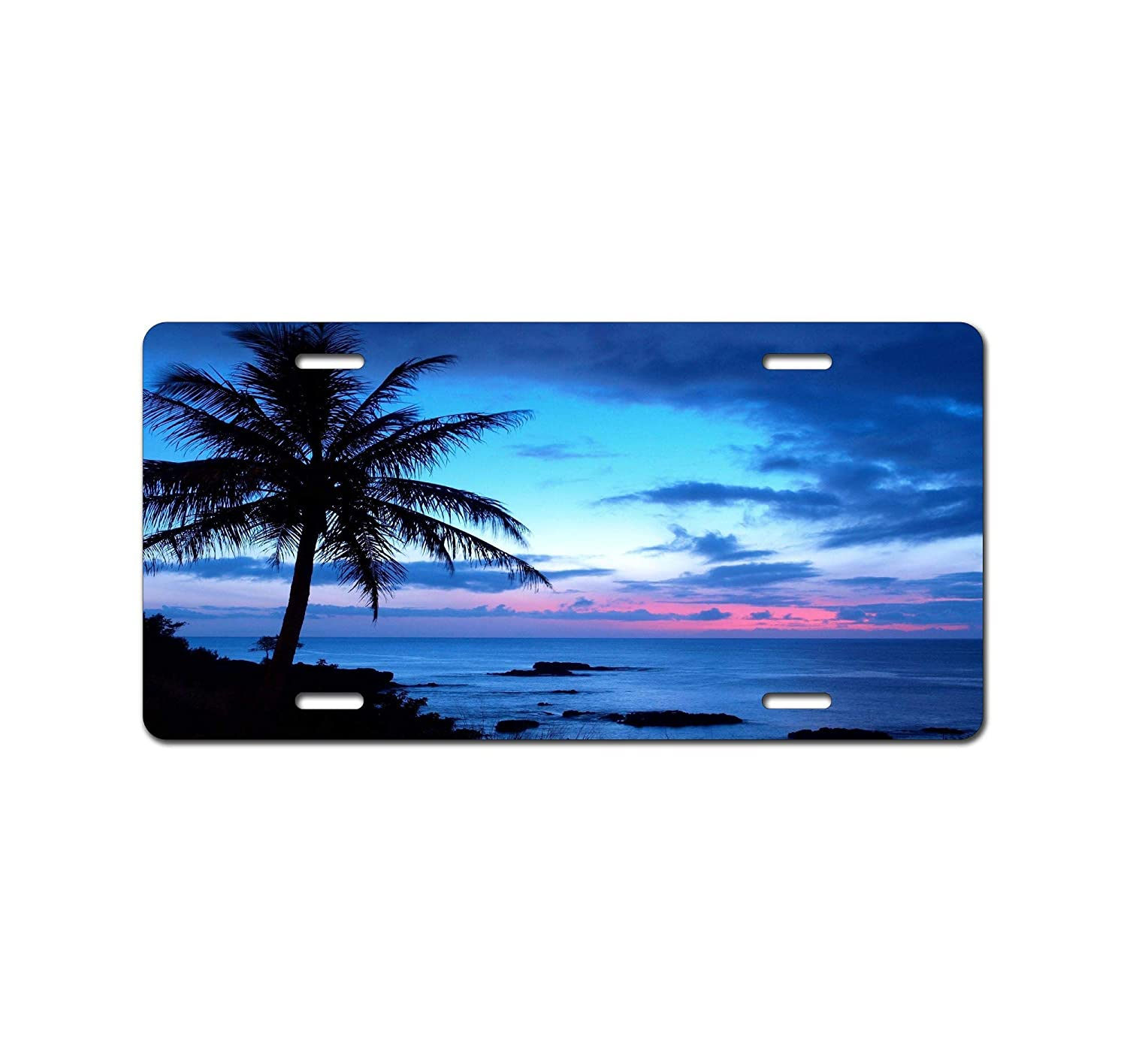 12 X 6 Booth Eddie Beautiful Island Coconut Tree Art Car Accessories Metal License Plate Tin SAbstract Art Octopus Art Car Accessories Metal License Plate Sign Tag New
