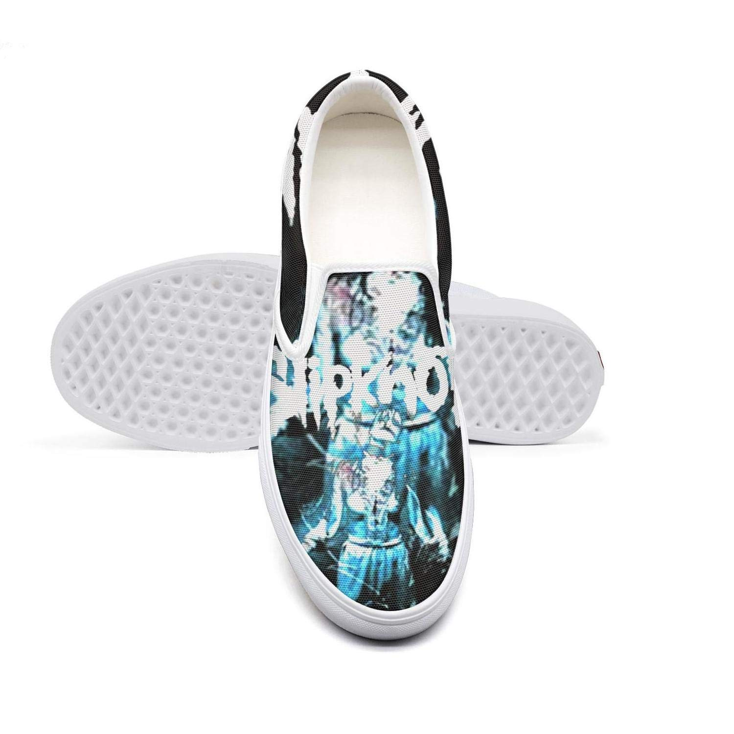 NI kingss Boys Slip ons Retro Casual Shoes Sneakers Print Boat Sneakers