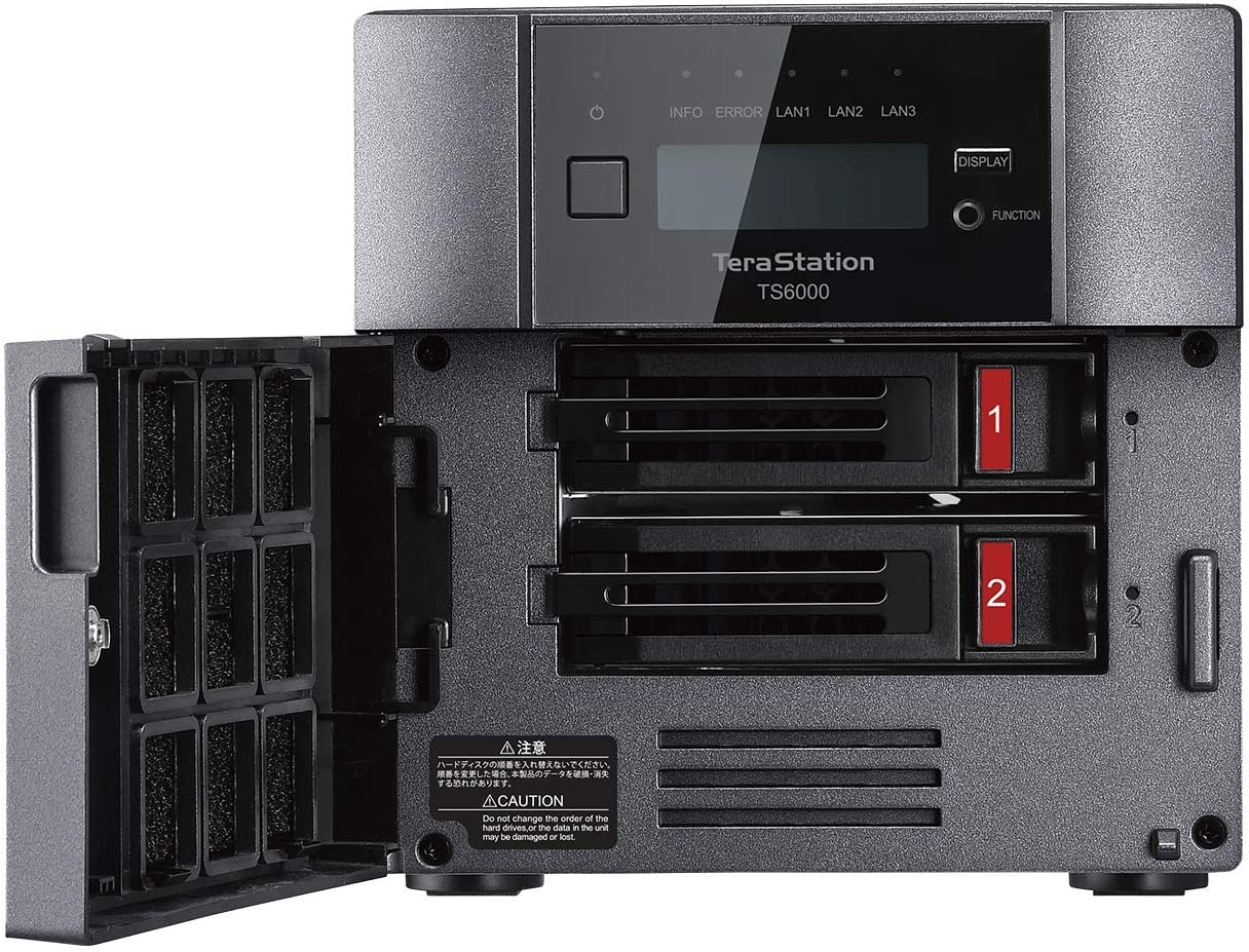 Buffalo TeraStation TS6400DN 16TB 4-Bay Desktop NAS Festplatten inklusive Snapshots