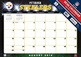 Turner 2016 17-Month Desk Pad, Pittsburgh Steelers, 12 x 17 inches