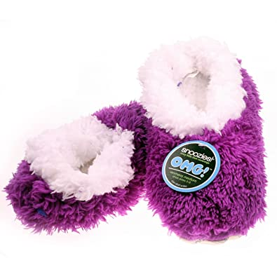 ea2c305a28 Snoozies Ladies OMG Mauve Super Soft Non Skid Slippers   Slipper Socks  Womens UK 3 -
