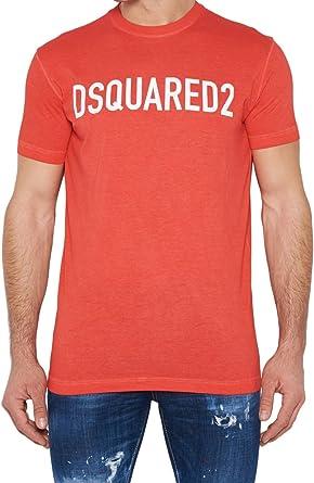 DSquared Camiseta - Para Hombre Rojo Rosso Talla de La Marca Small: Amazon.es: Ropa y accesorios