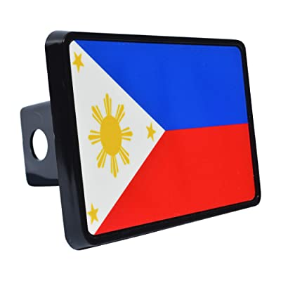 Rogue River Tactical Philippines Filipino Flag Trailer Hitch Cover Plug Gift Idea: Automotive