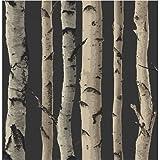 Brewster FD31053Birke Baum Tapete–Gold