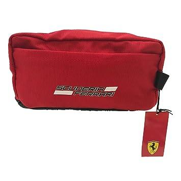 SCUDERIA FERRARI Beauty Neceser Ferrari de poliéster Spalmato con Detalles Goma