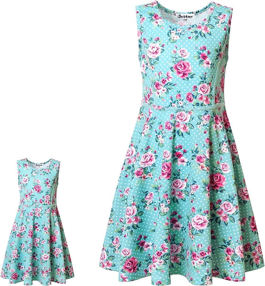 Perfashion Unicorn Dress Matching Girls/&Dolls Sleeveless Party Summer Outfits