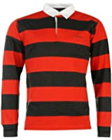 Panneau pour homme rayé Rugby Manches Longues Polo pour Femme