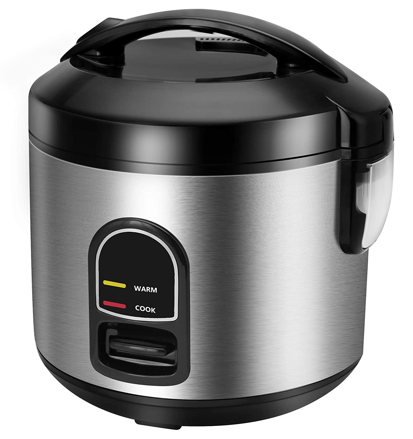 Electric Rice Cooker Food Steamer, CUSINAID Smart 10 cup Rice Cooker Steamer with Automatic Keep Warm Function, Perfect for Soups, Stews, Grains & Oatmeal (1.8 Liters)