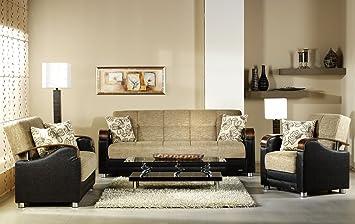 Amazon.com: istikbal Fulya L café sofá de 3 asientos + Love ...