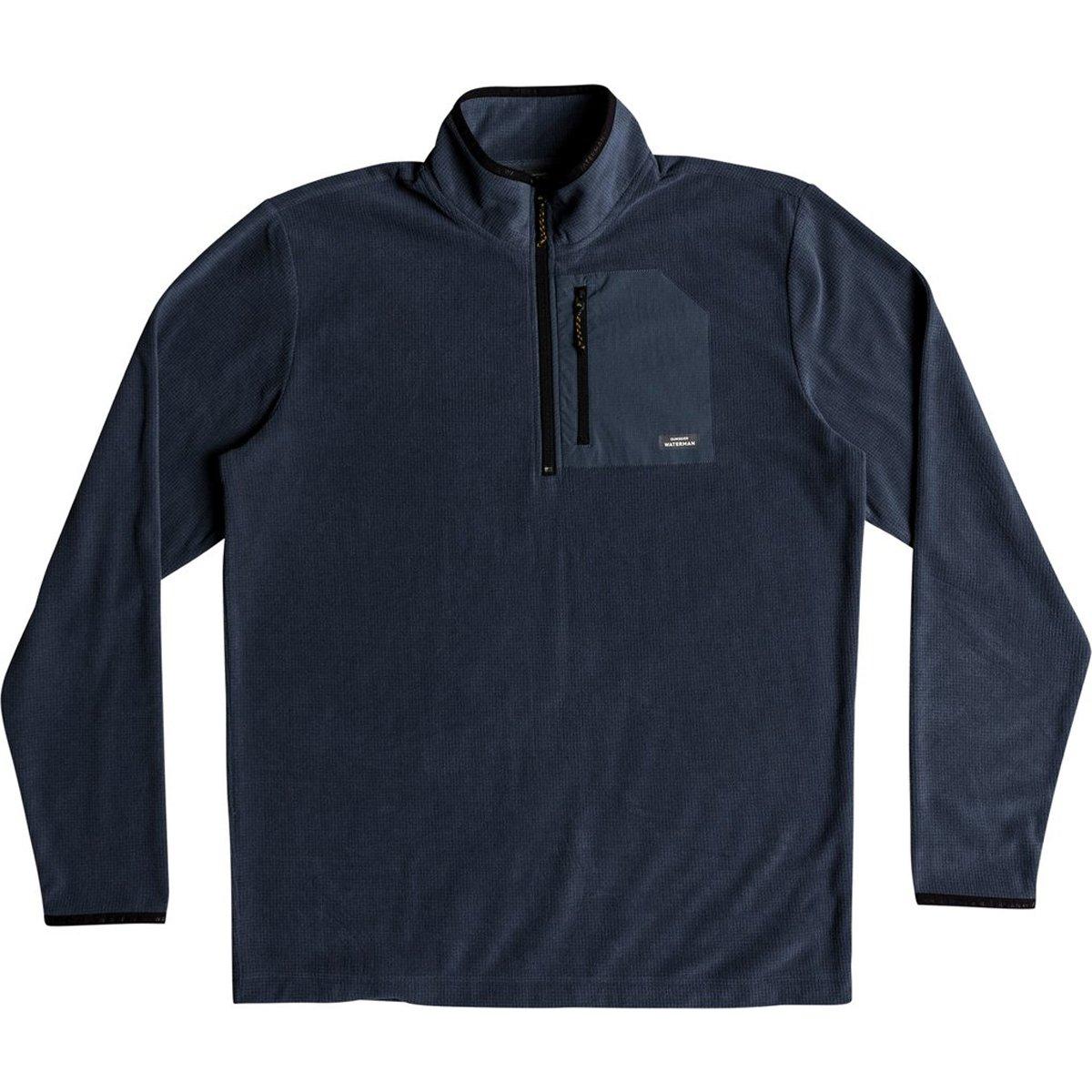 Quiksilver Men's Boat Trip 2 Half Zip Fleece Jacket, Orion Blue, L