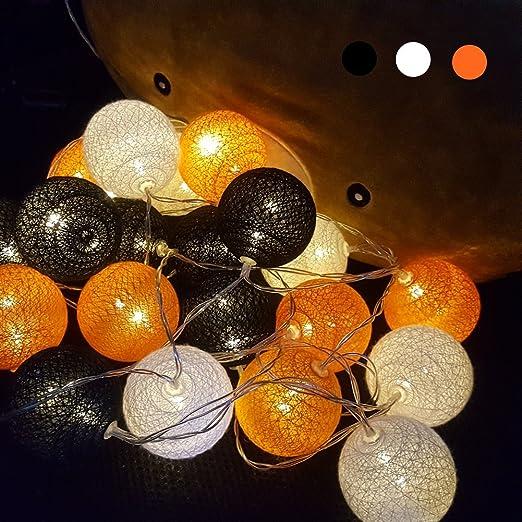 Bater/ía Decorativas LED L/ámpara de Tira Bola Hada Noche Cadenas Luz Bebe Casa Dormitorio Decoraci/ón Boda Fiesta Cumplea/ños Navidad 1.8m //10 Luces, Gris Morbuy Cadena de Luces para Algod/ón Bola