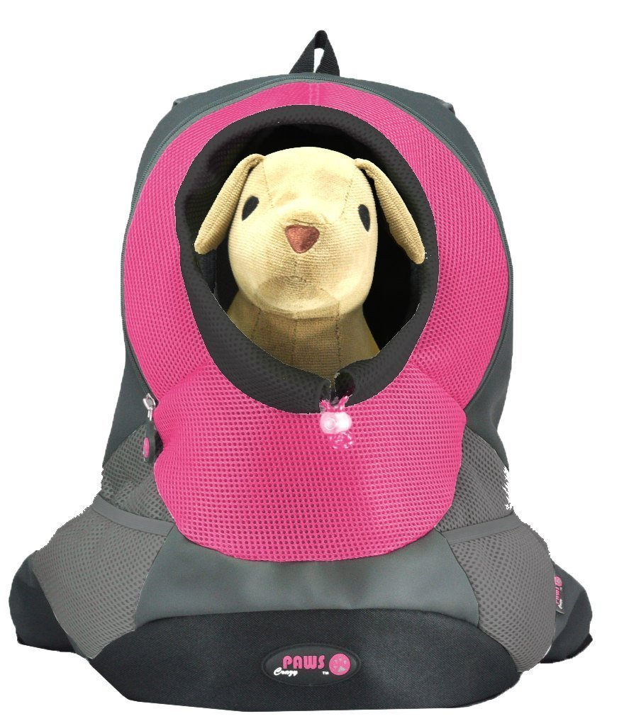 Crazy Paws Pet Backpack Extra Large Pink