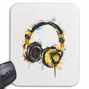Mousepad alfombrilla de ratón Auriculares de la vendimia TECHNO JAZZ DJ cobarde ALMA TRANCE FESTIVAL DE ...