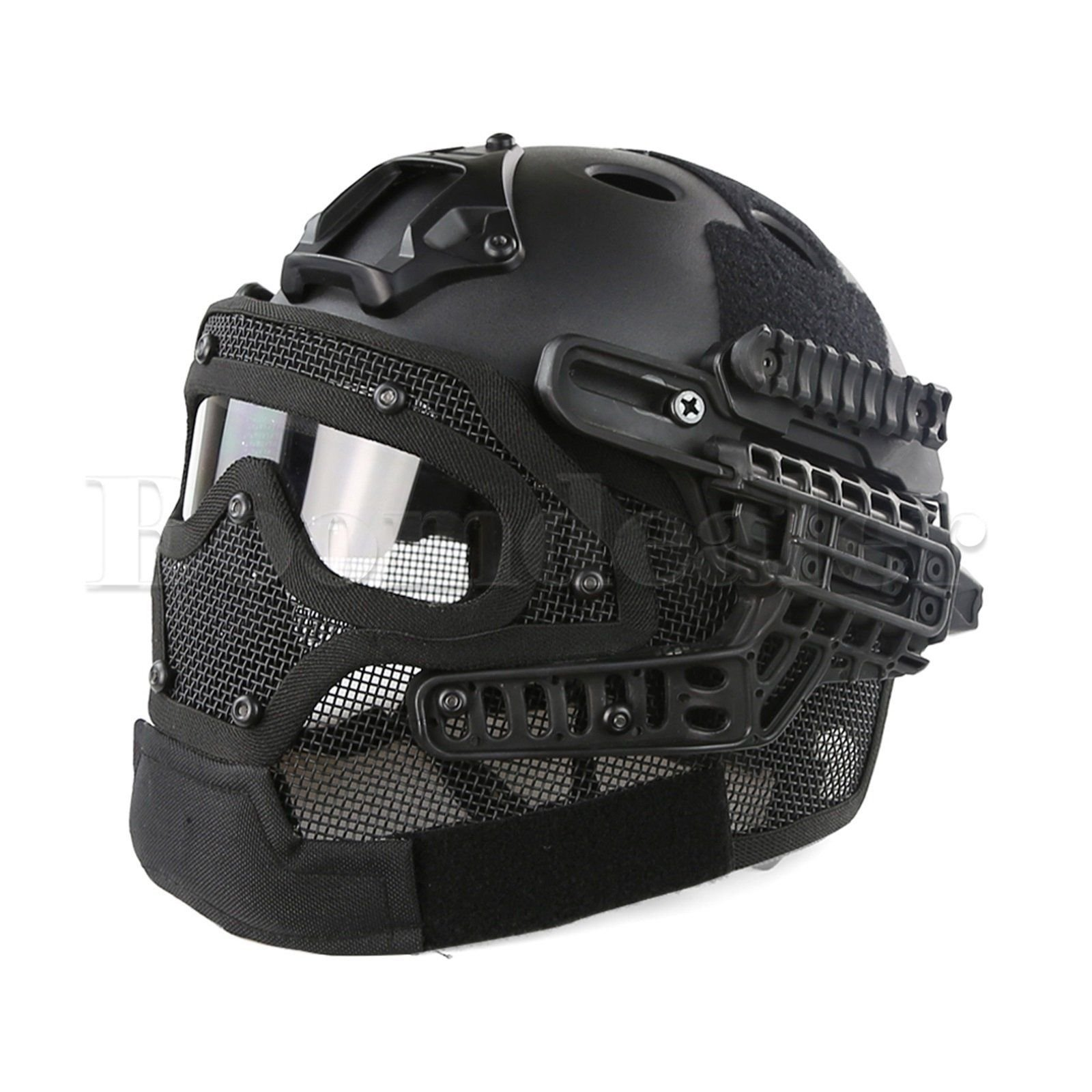 Tactical Airsoft Paintball Fast Helmet Protective with Mask Goggles & G4 System by rungrueng