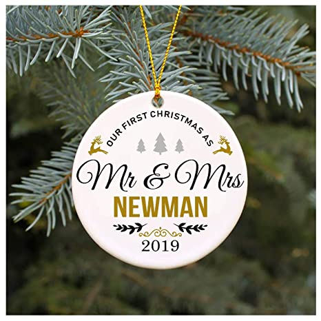 Newman Christmas Trees.Amazon Com Our First Christmas As Mr Mrs Newman 2019