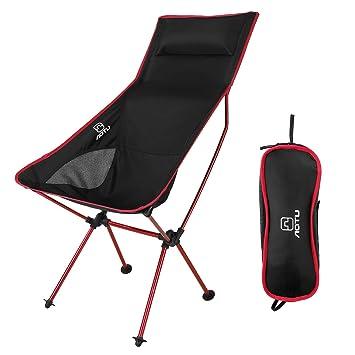 OUTAD Silla Plegable de Fácil Transporte para Camping/Playa/Pesca/ Jardín