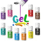 Gel Food Coloring 10x10ml Colors Set - Wayin Gel Based Vibrant Food Color Dye Flavorless Edible Icing Color Concentrated Neon