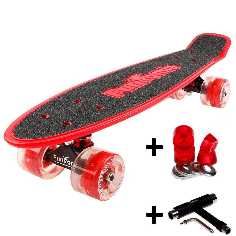 rot mit LED Rollen + T-Tool + weichen Lenkgummis